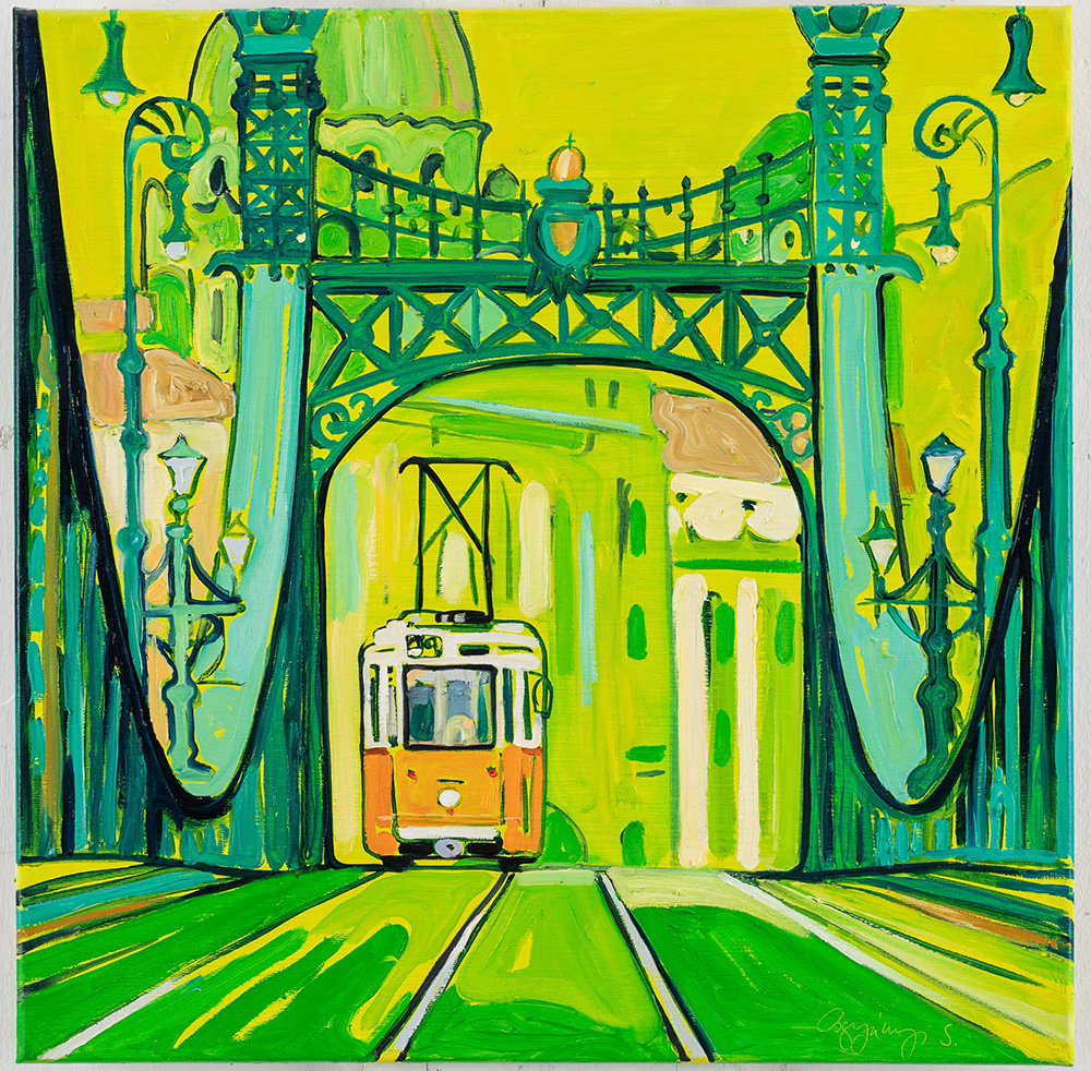 The colourful Budapest paintings of Osgyányi Sára - Budapest inspired illustrations, paintings and prints by Hungarian artists | Aliz's Wonderland #Budapest #souvenir #homedecor #illustration
