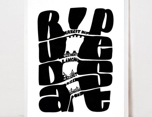 Budapest silkscreen print by Zita Majoros - Budapest inspired illustrations, paintings and prints by Hungarian artists | Aliz's Wonderland #Budapest #souvenir #homedecor #illustration