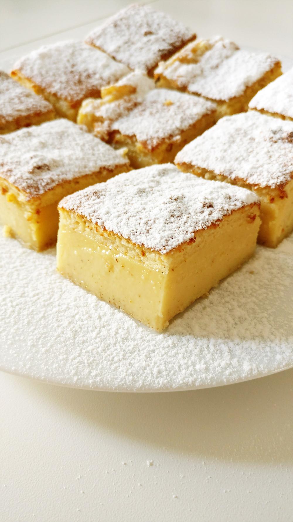 Delicious milky vanilla bars | Aliz's Wonderland #vanillabar #vanillacurd #dessert #milkybar #recipe