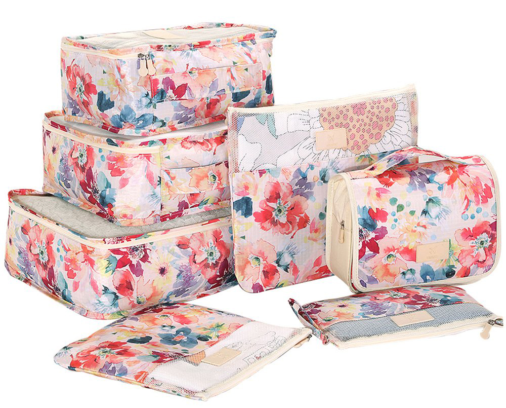 Floral travel organizer set - Useful gift ideas for travel lovers | Aliz's Wonderland