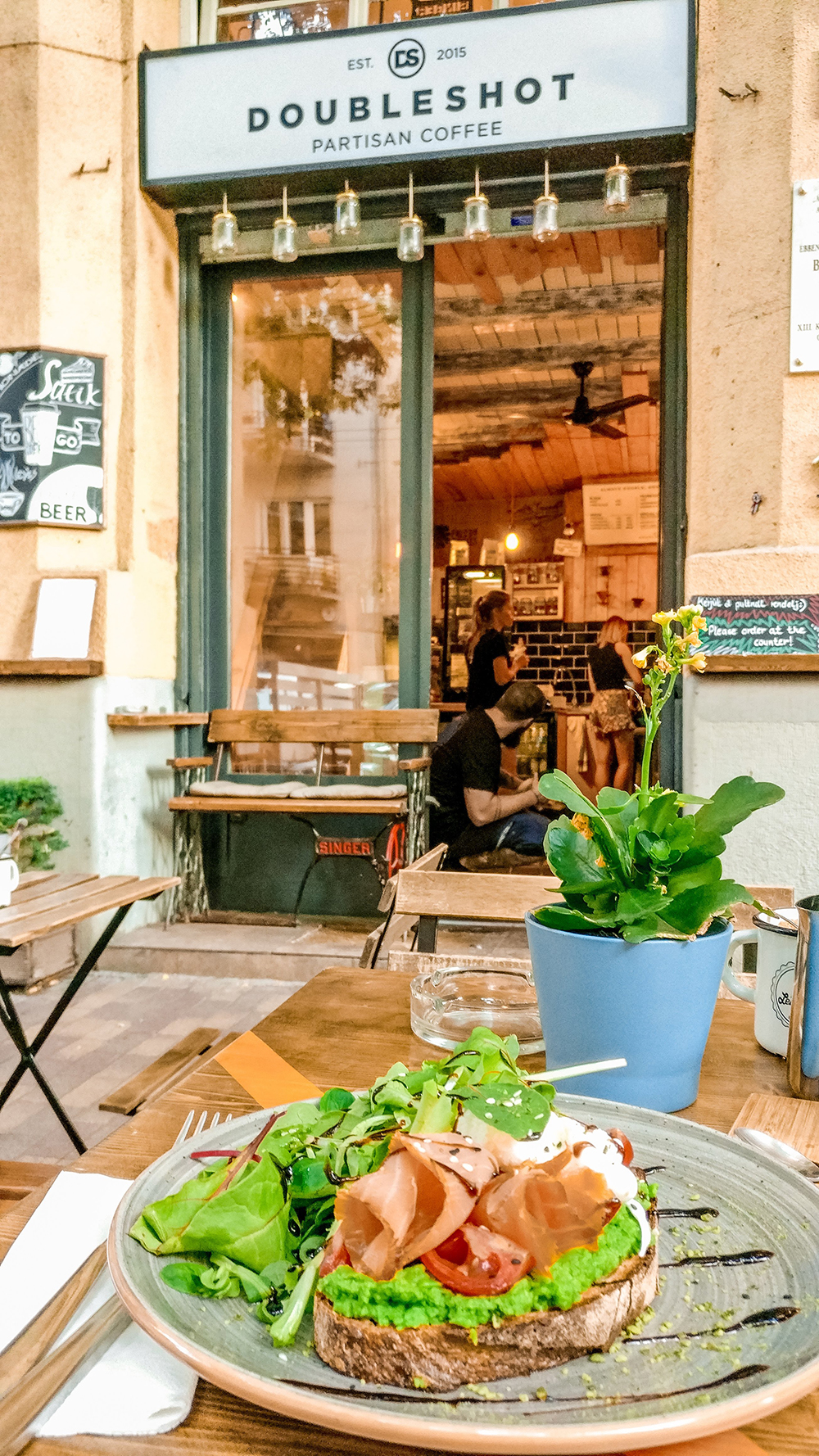 Eco avocado toast at Double shot Partisan coffee shop - Budapest's best breakfast & brunch places - Jászai Mari square and Pozsonyi street | Aliz's Wonderland