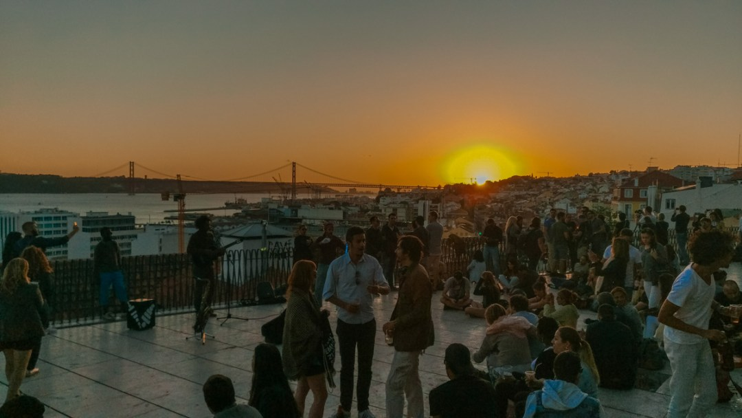 Miradouro de Santa Catarina - Visit Lisbon's best viewpoints - 5 things you need to experience in Lisbon, Portugal | Aliz's Wonderland