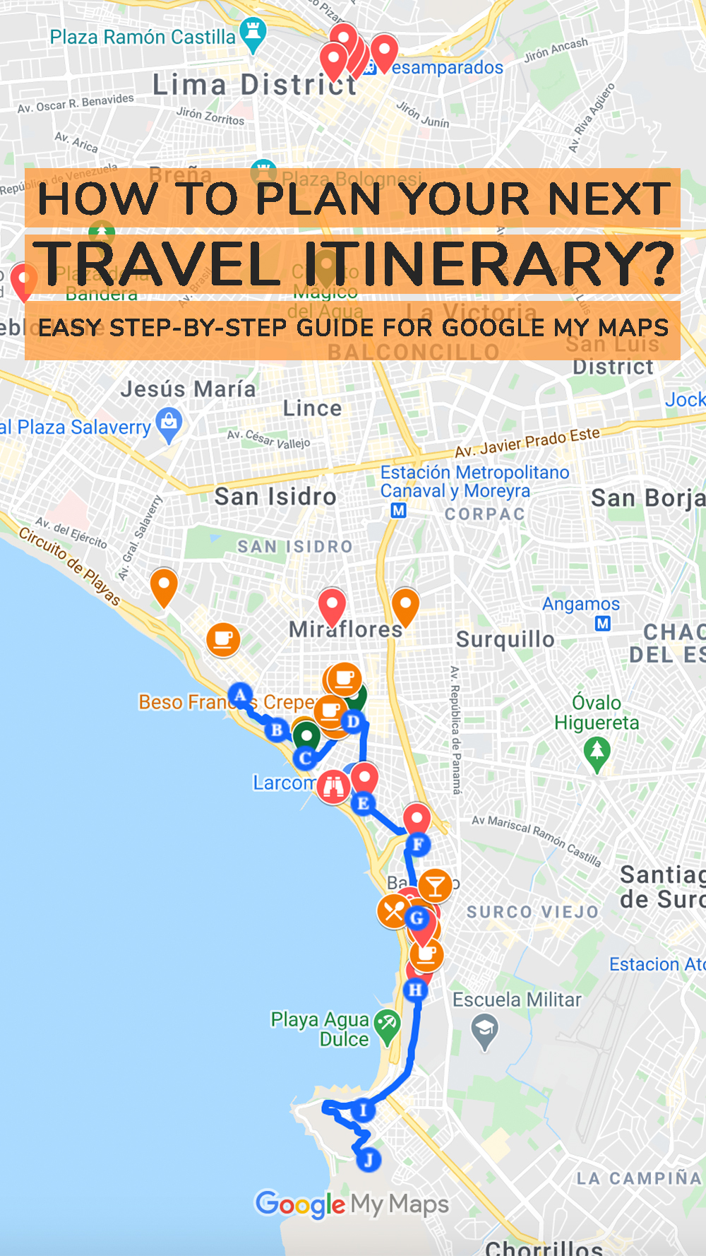How to plan your next travel itinerary? Easy step-by-step guide for Google My Maps | Aliz's Wonderland