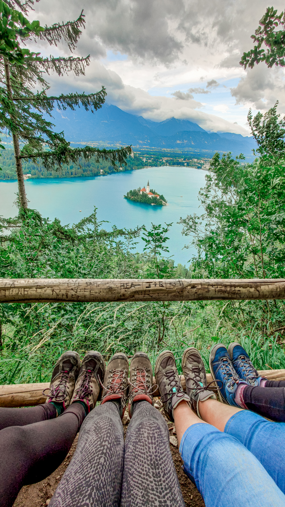 Lake Bled panorama from Mala Osojnica viewpoint - 4-day Slovenia travel itinerary for the best outdoor adventures | Aliz's Wonderland