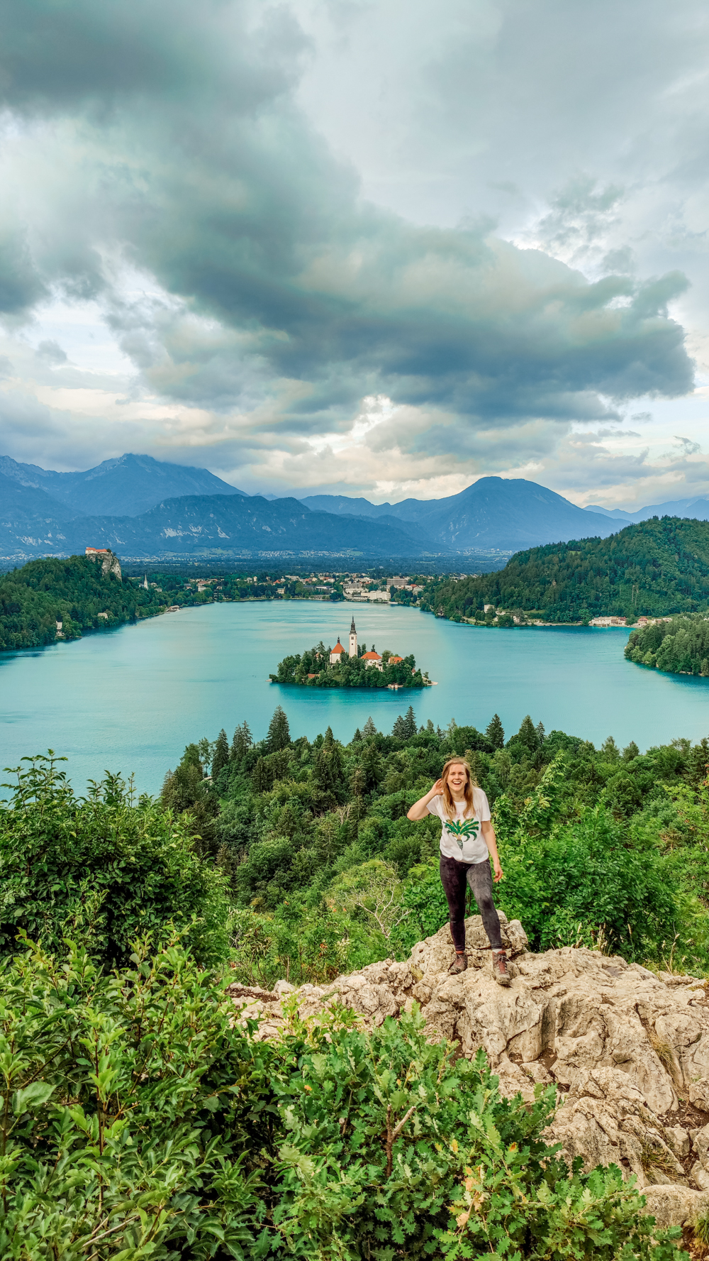 Lake Bled panorama from Ojstrica viewpoint - 4-day Slovenia travel itinerary for the best outdoor adventures | Aliz's Wonderland