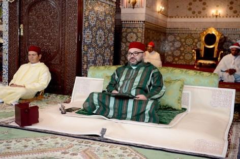 أمير المؤمنين الملك محمد السادس يترأس الدرس الرمضاني السادس وليلة القدر بمسجد حسان.