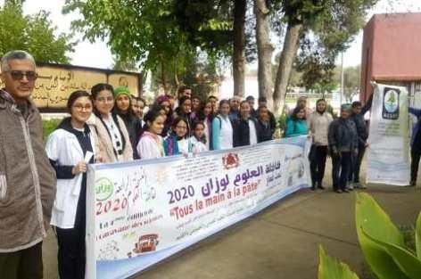 وزان : تظاهرة الشباب و العلم تحط الرحال بإعدادية الإمام مالك