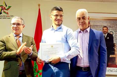Youssef Boughanem, Un héros sportif qui raconte son exploit au sein du consulat du Maroc à Bruxelles.