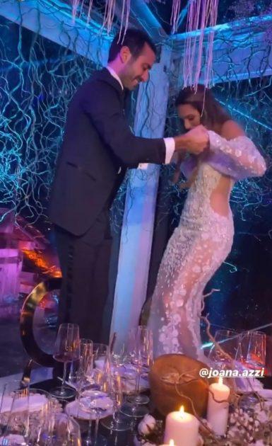 العروسان يرقصان وهل أصيبا بالفيروس؟