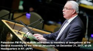 128 vote in favor of UN call for US to withdraw Jerusalem decision