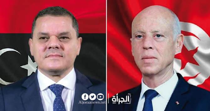 الدبيبة يكشف لقيس سعيد أسباب غلق الحدود الليبية مع تونس