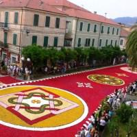 Flower Carpets at Infiorata Festival, Italy