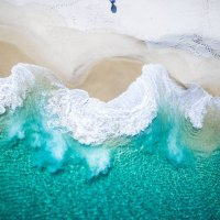 From the Sky To the Deep Blue Turquoise Seas