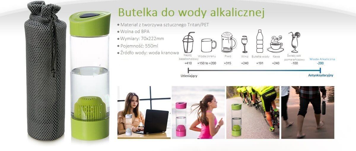 informacja dotycząca butelki do wody alkalicznej AlkaDrop