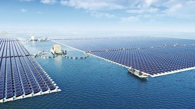 China's floating Solar Power Plant, Anhui Province