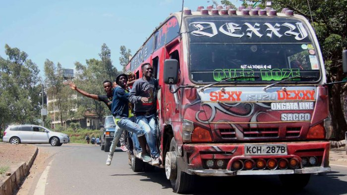 Picture of a Matatu by Business Daily