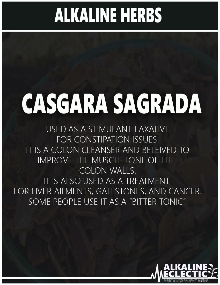 ALKALINE HERBS CASGARA SAGRADA INFO