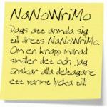Snart dags för årets upplaga av NaNoWriMo