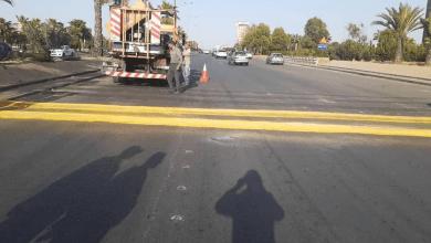 Photo of قطع طريق المتحلق الجنوبي القادم من المزة بدمشق للصيانة