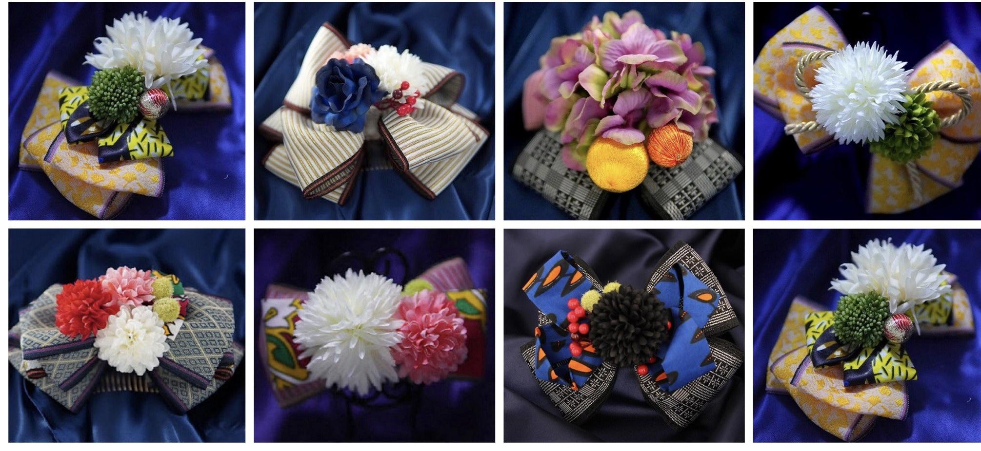 【横浜高島屋にて期間限定ショップ!】 畳べり×アフリカ布の新感覚和装アクセサリーAnkoromam ribbon