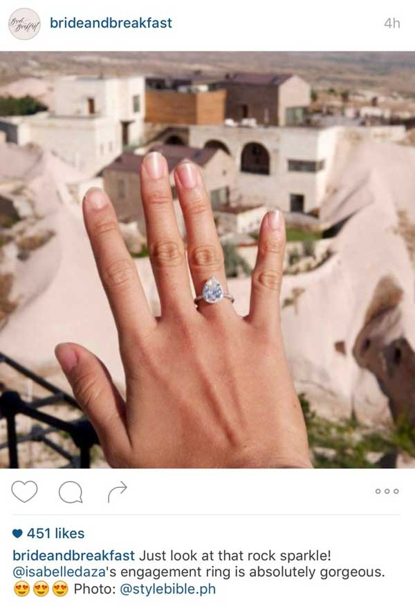 Isabelle Daza's Engagement Ring