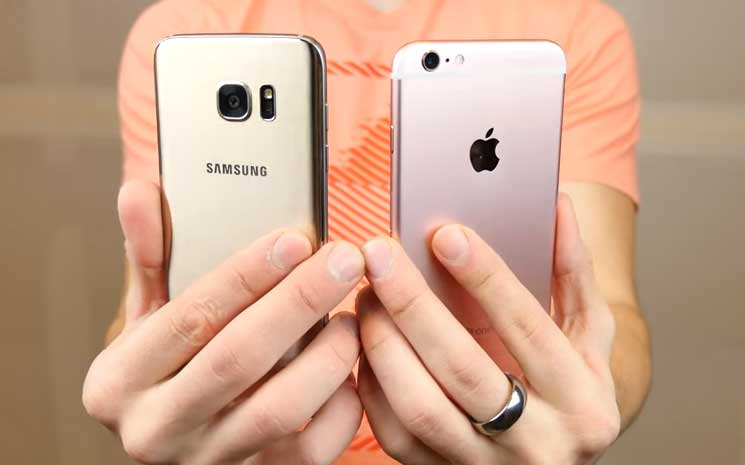 Galaxy S7 Edge Vs Iphone 6s Drop And