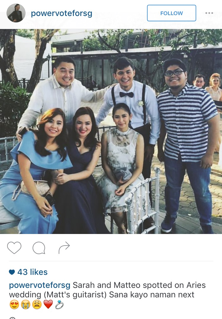 Sarah Geronimo and Matteo Guidicelli Together in Wedding1