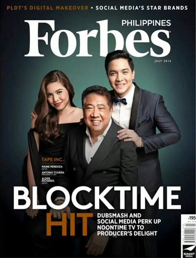 AlDub and Antonio Tuviera on the Cover of Forbes PH