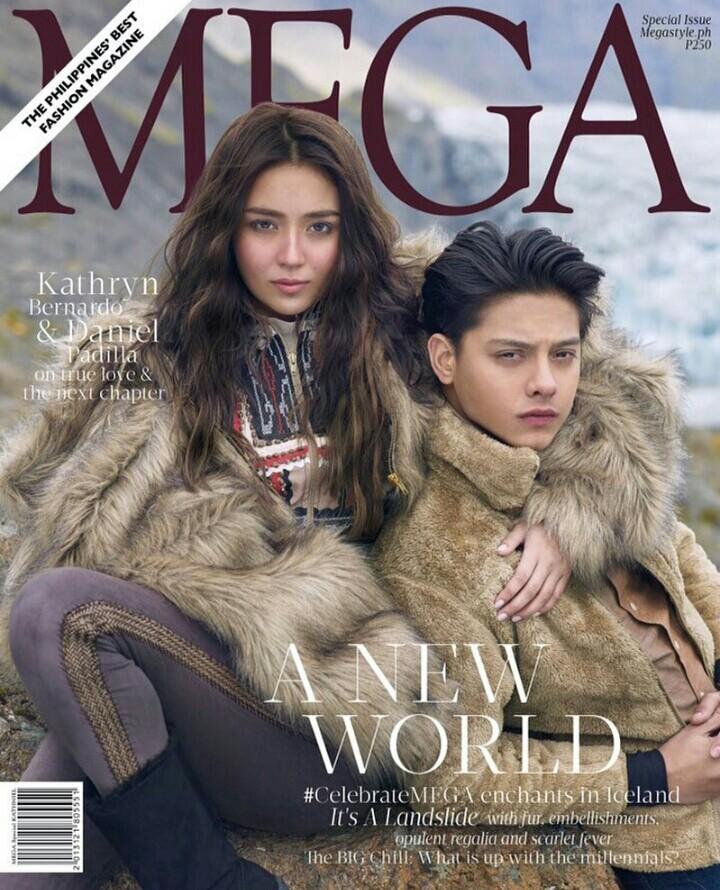 Daniel Padilla and Kathryn Bernardo on the Cover of Mega