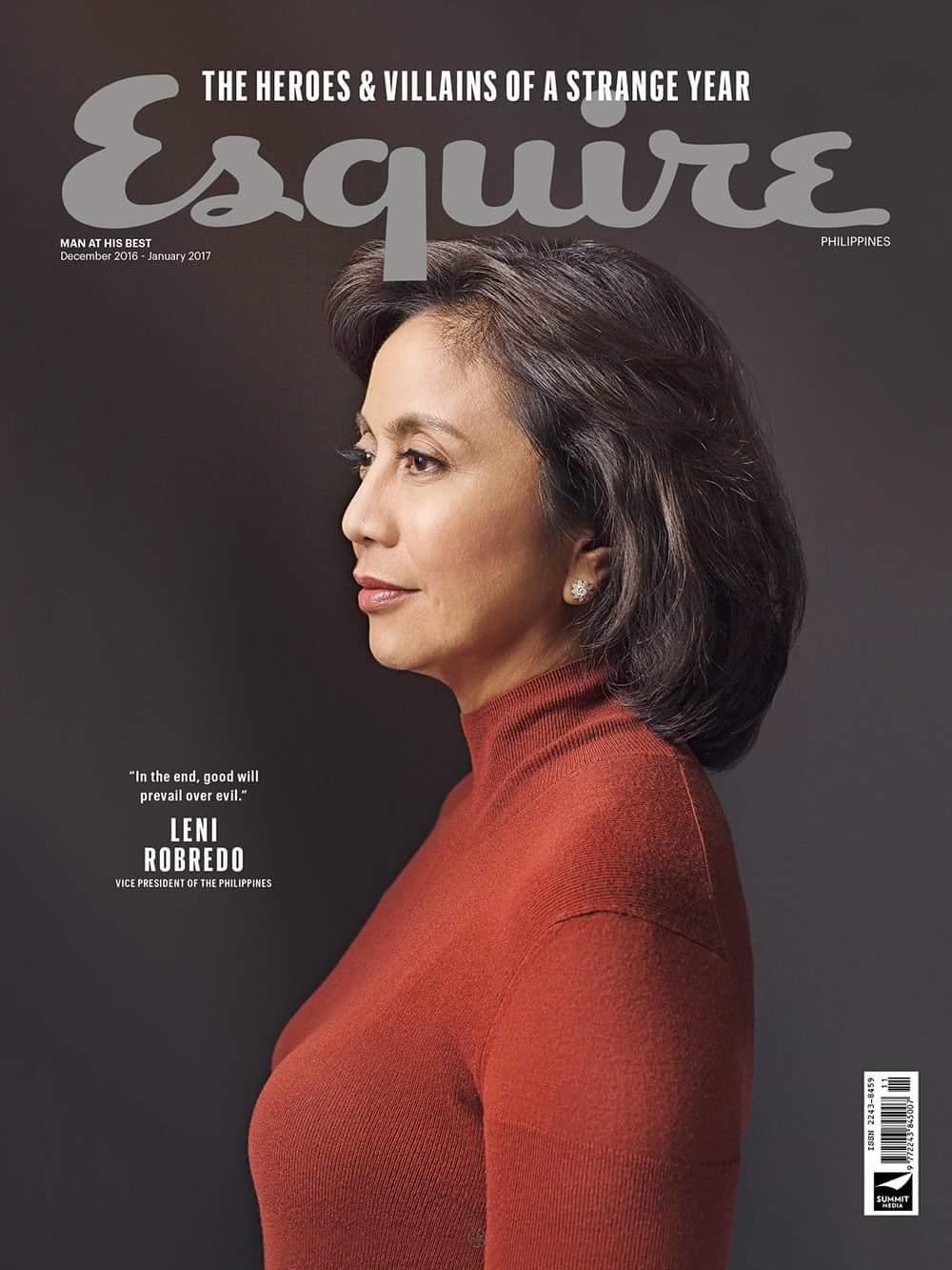 VP Leni Robredo on the Cover of Esquire