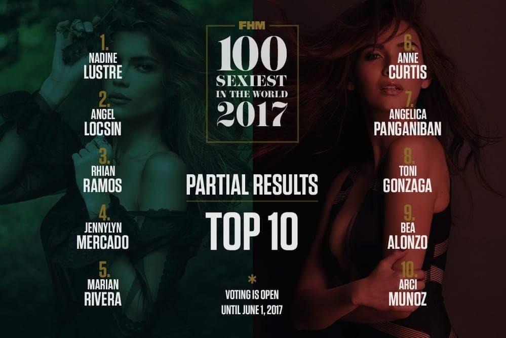 nadine lustre fhm sexiest 2017