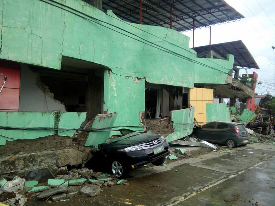 Magnitude 6.5 Leyte earthquake aftermath