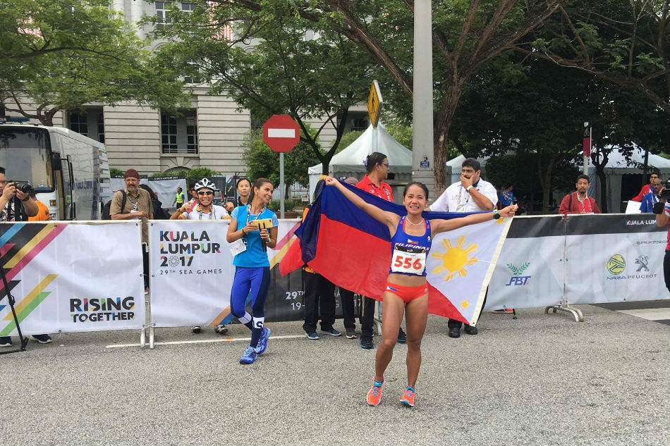Mary Joy Tabal earns Philippines' first gold medal in 2017 Southeast Asian Games