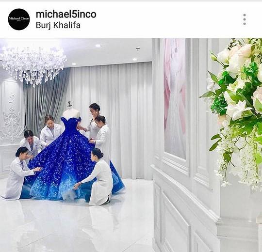 Isabelle Duterte michael cinco gown