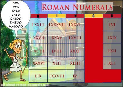 Roman Numerals Bingo  Teaching Roman Numerals