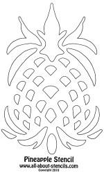 pineapple stencil stencils fun crafts some coloring