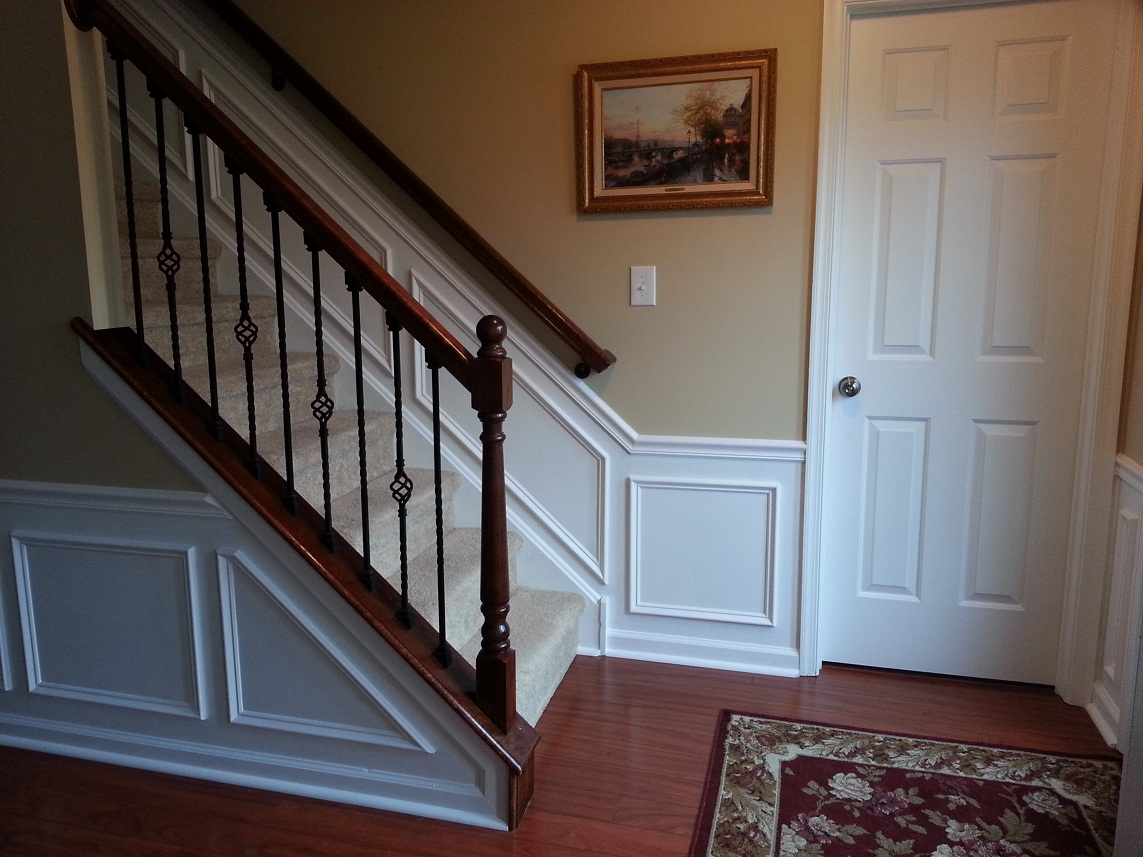 chair rail end cap fabric for dining room chairs hall and stairway trim work - low maintenance shadow boxes all about the house