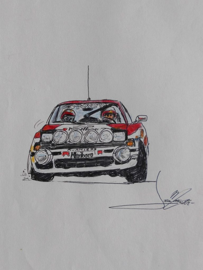 Racing cars: Toyota Supra 1993. A painting by Joan Mañé