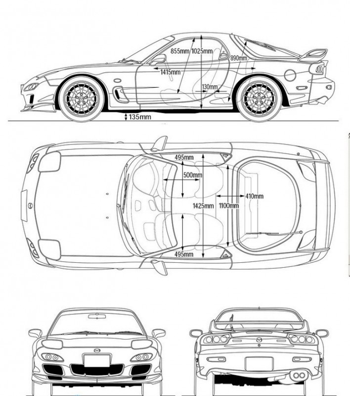 Mazda Rx 7 Coloring Pages Coloring Pages