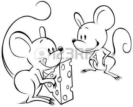 صور رسومات فئران للاطفال جاهزة للطباعة والتلوين , صور