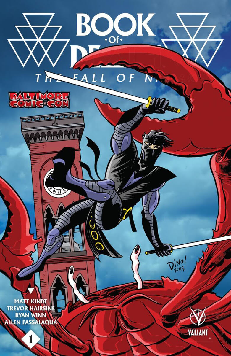 BOOK OF DEATH: THE FALL OF NINJAK #1 Baltimore Comic-Con Exclusive Variant – Cover by Dean Haspiel