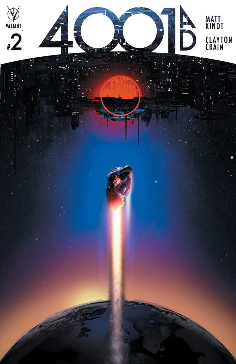 4001 A.D. #1 (of 4) SECOND PRINTING – Cover by Clayton Crain