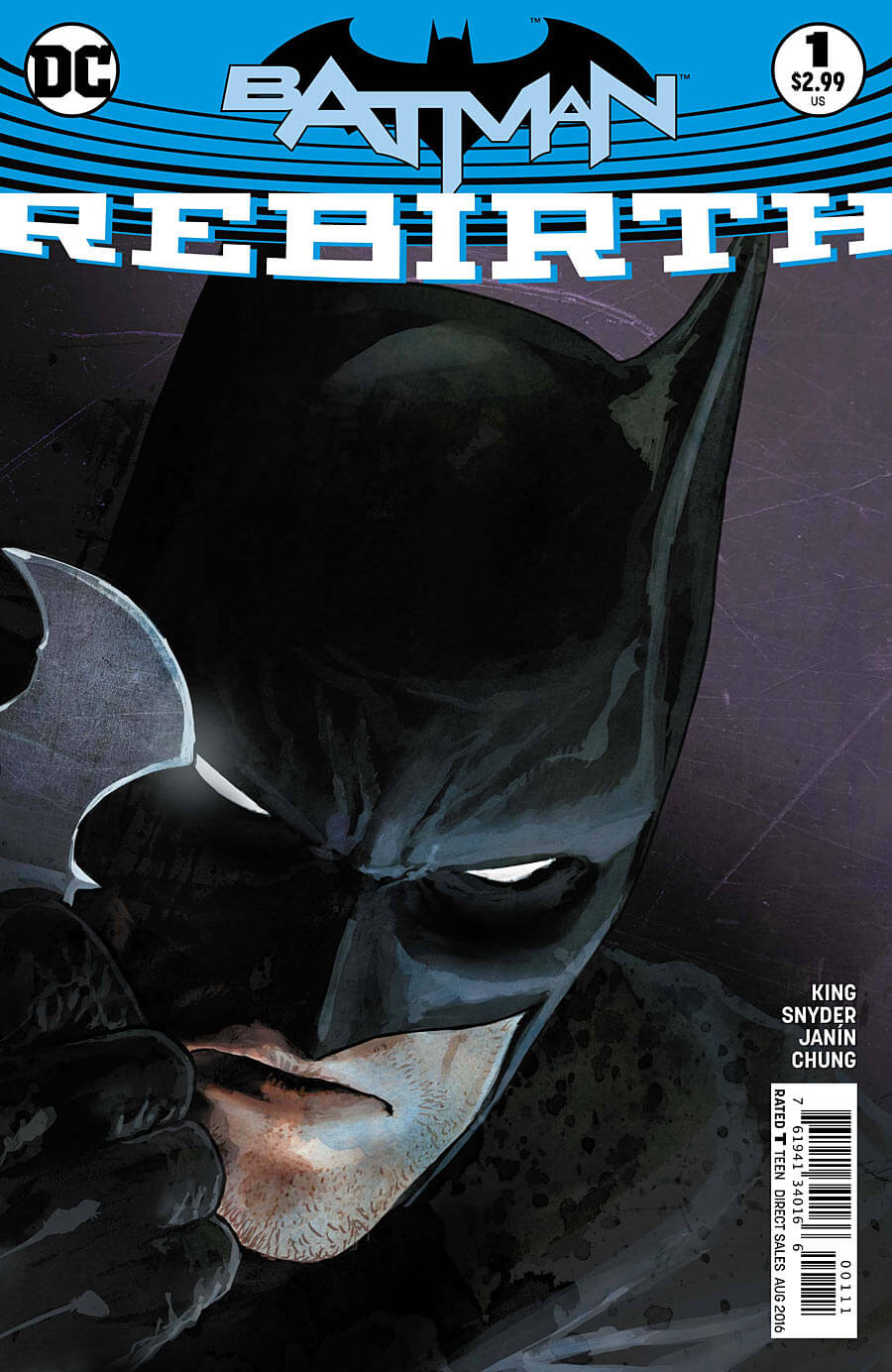 Batman Rebirth #1 Cover