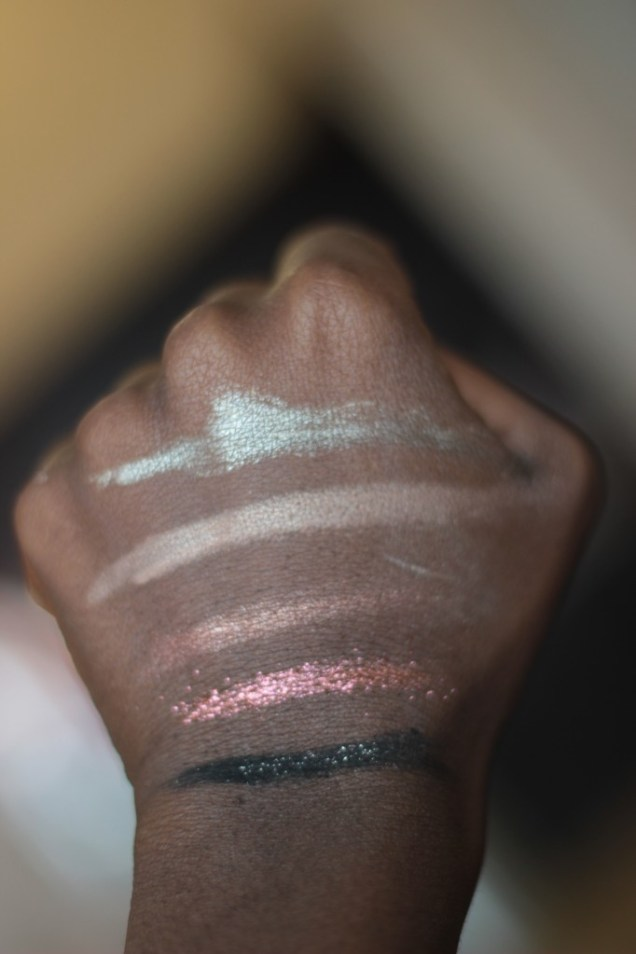 sparkly eye shadows dark skin