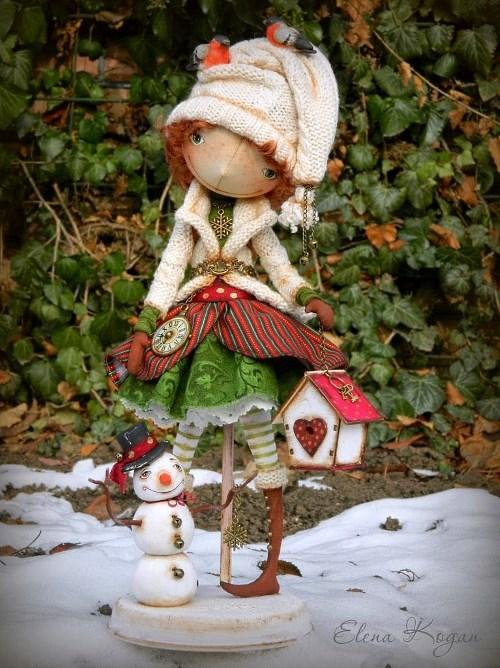 Елена Коган. Кукла Зимнее настроение...