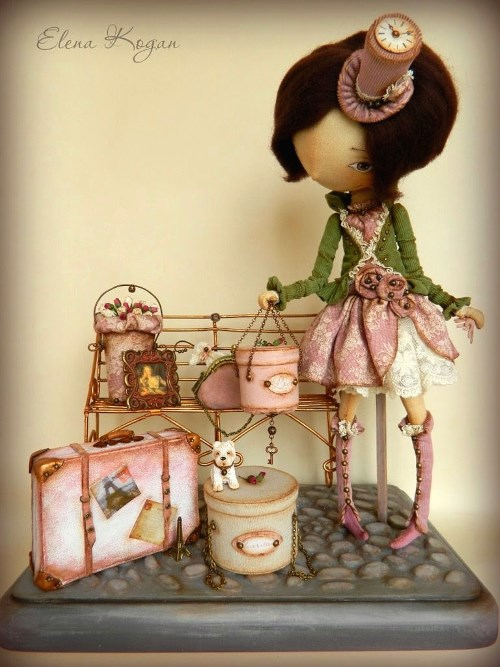 Елена Коган. Кукла Дама и багаж
