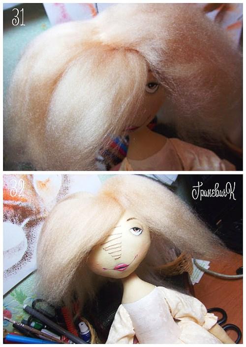 волосы кукла из шерсти