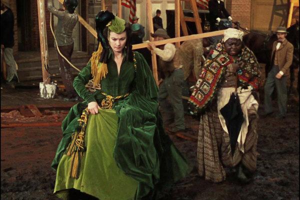 Зеленое бархатное платье Скарлетт О'хара