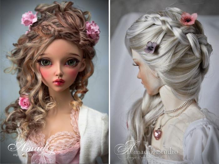 Парики для кукол от Amadiz Studio