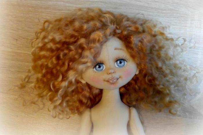 МК: лицо для куклы